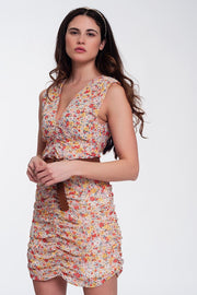 Lucinda Ruched Bodycon Mini Dress
