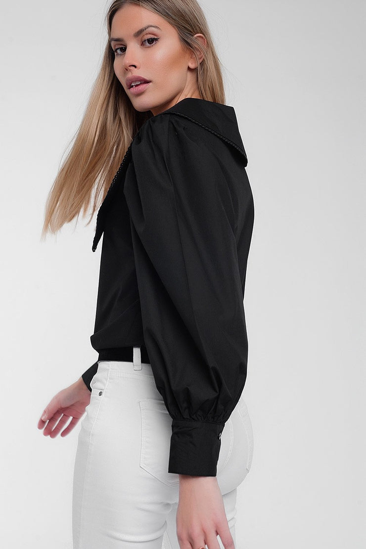 Oversized Collared Shirt top