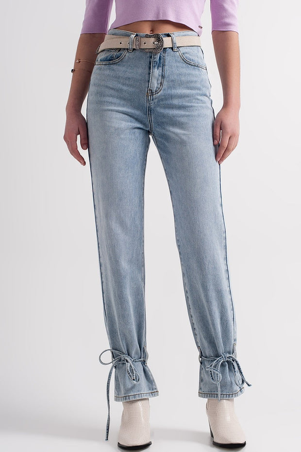 Lyst Jeans With Drawstring