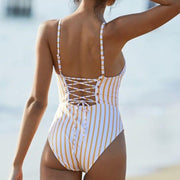 Sifera Striped Push-Up Swimsuit