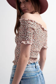 Coco Floral Ruched Top