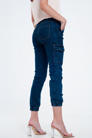 Cargo Jeans in Navy