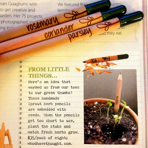 Home Beautiful magazine August 2014 featuring Sprout Pencils