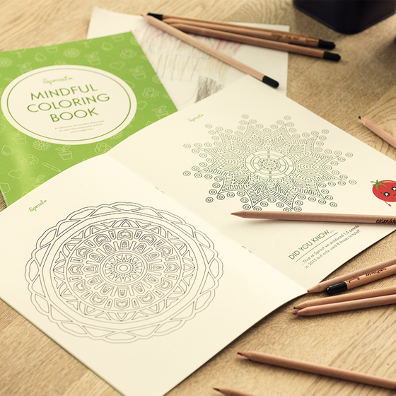Sprout Mindful Colouring Book