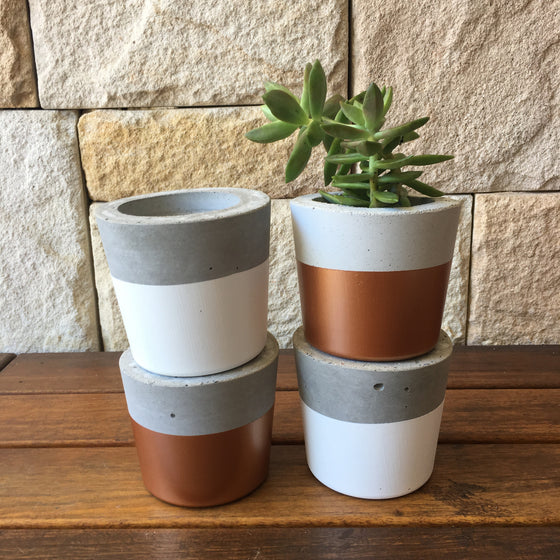 Concrete Planter: Light Grey