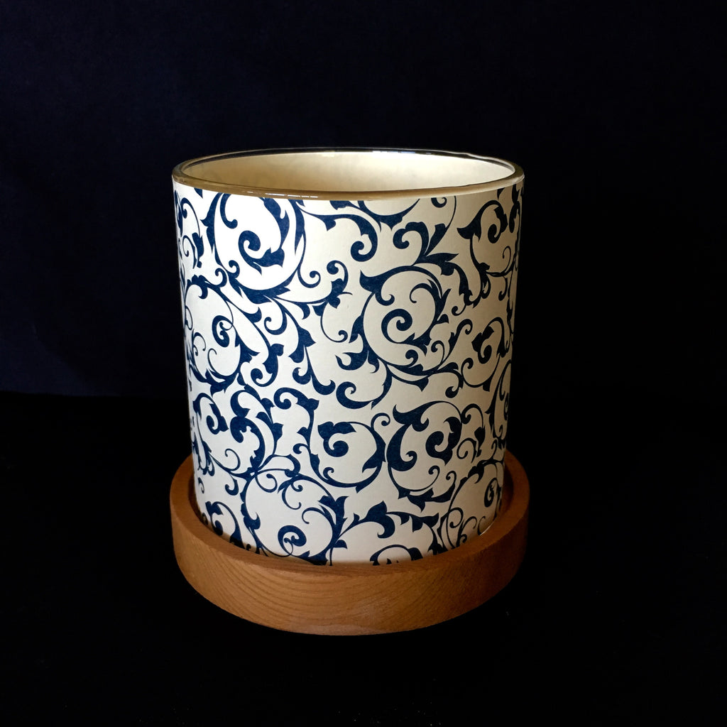 Paper Glass Votive Lantern: Blue