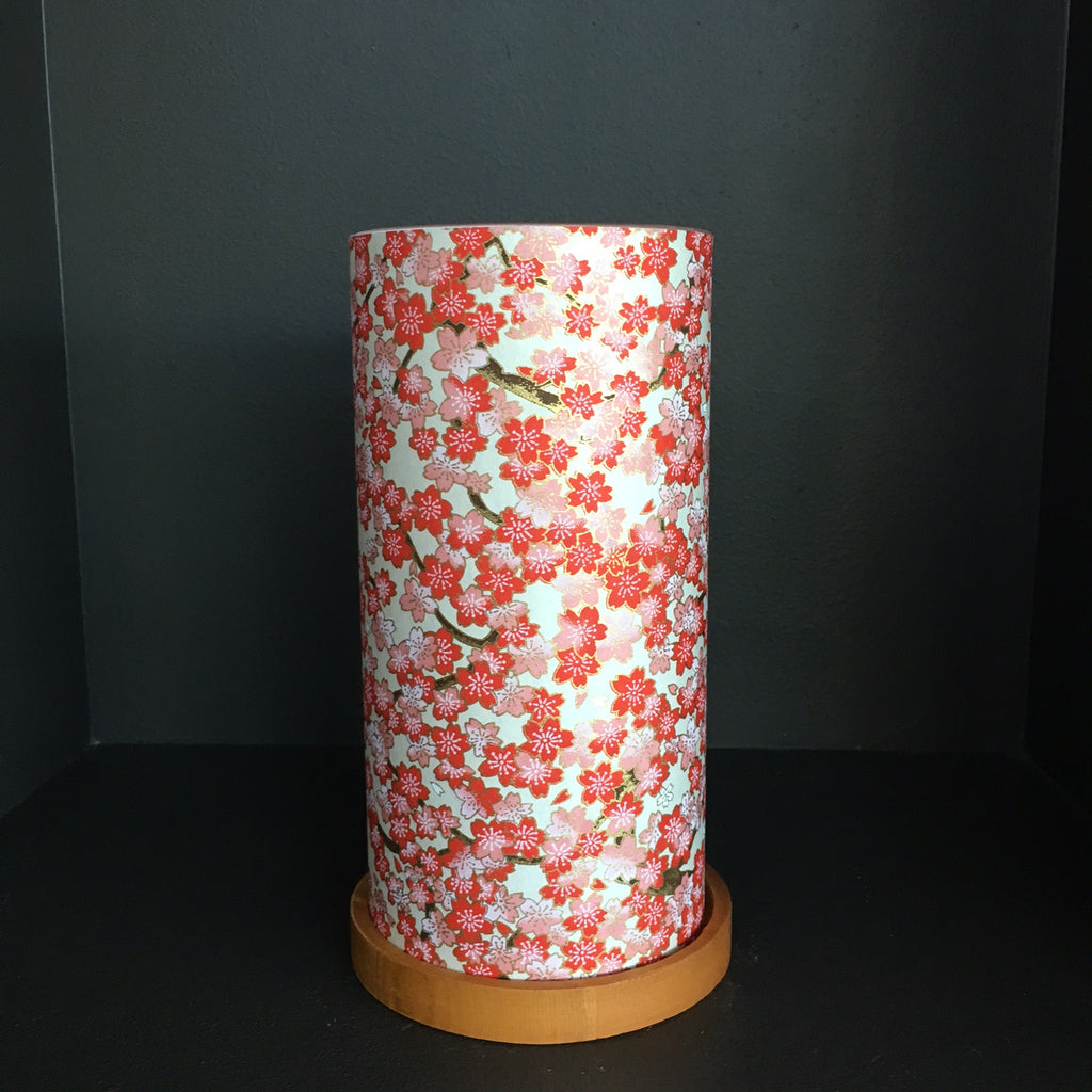 Paper Glass Votive Lantern: Red Sakura