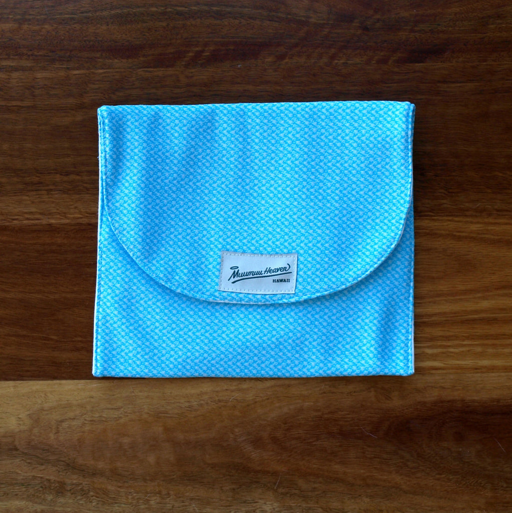 Vintage Mu'umu'u Book Bag: Blue