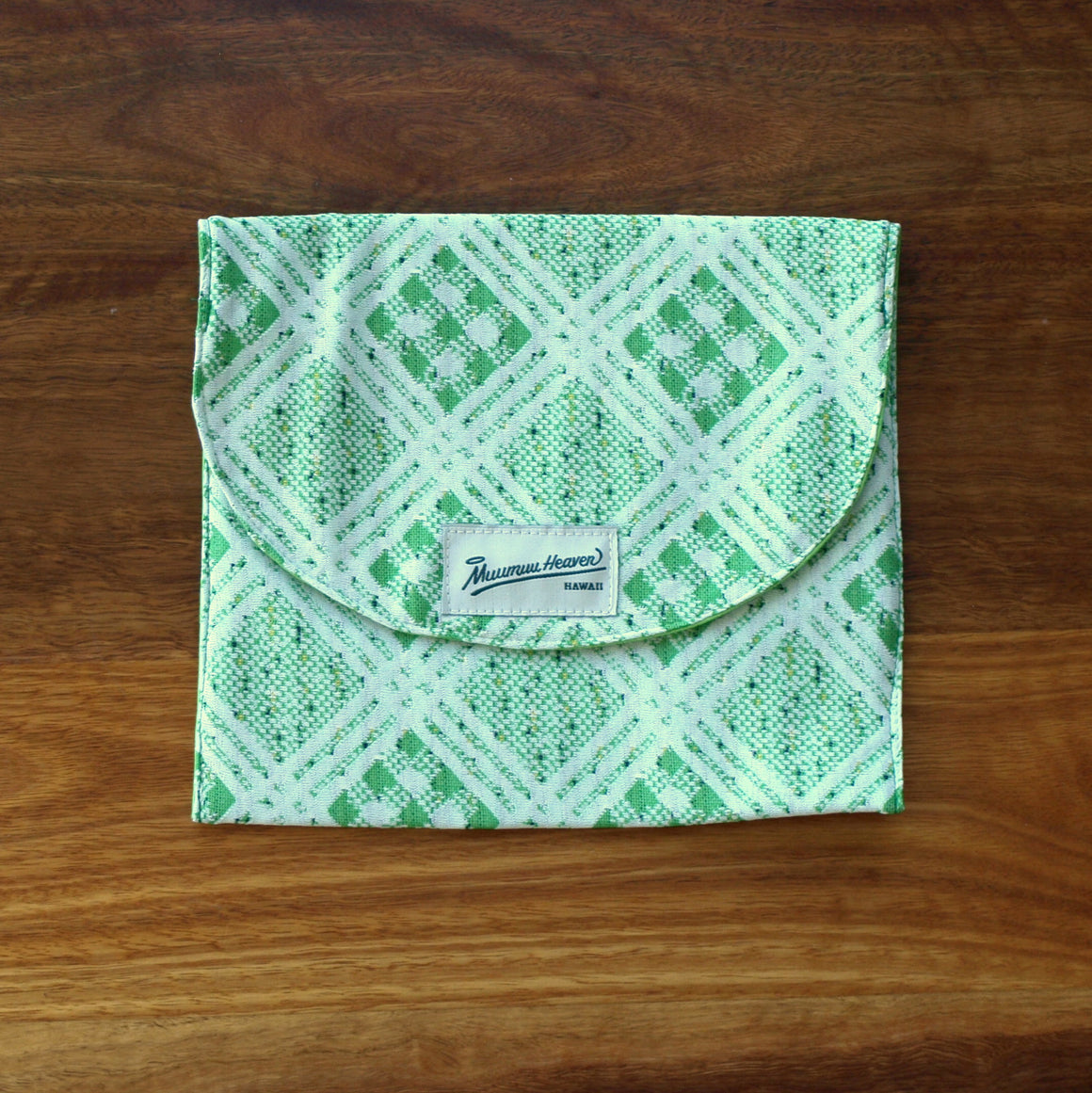 Vintage Mu'umu'u Book Bag: Green