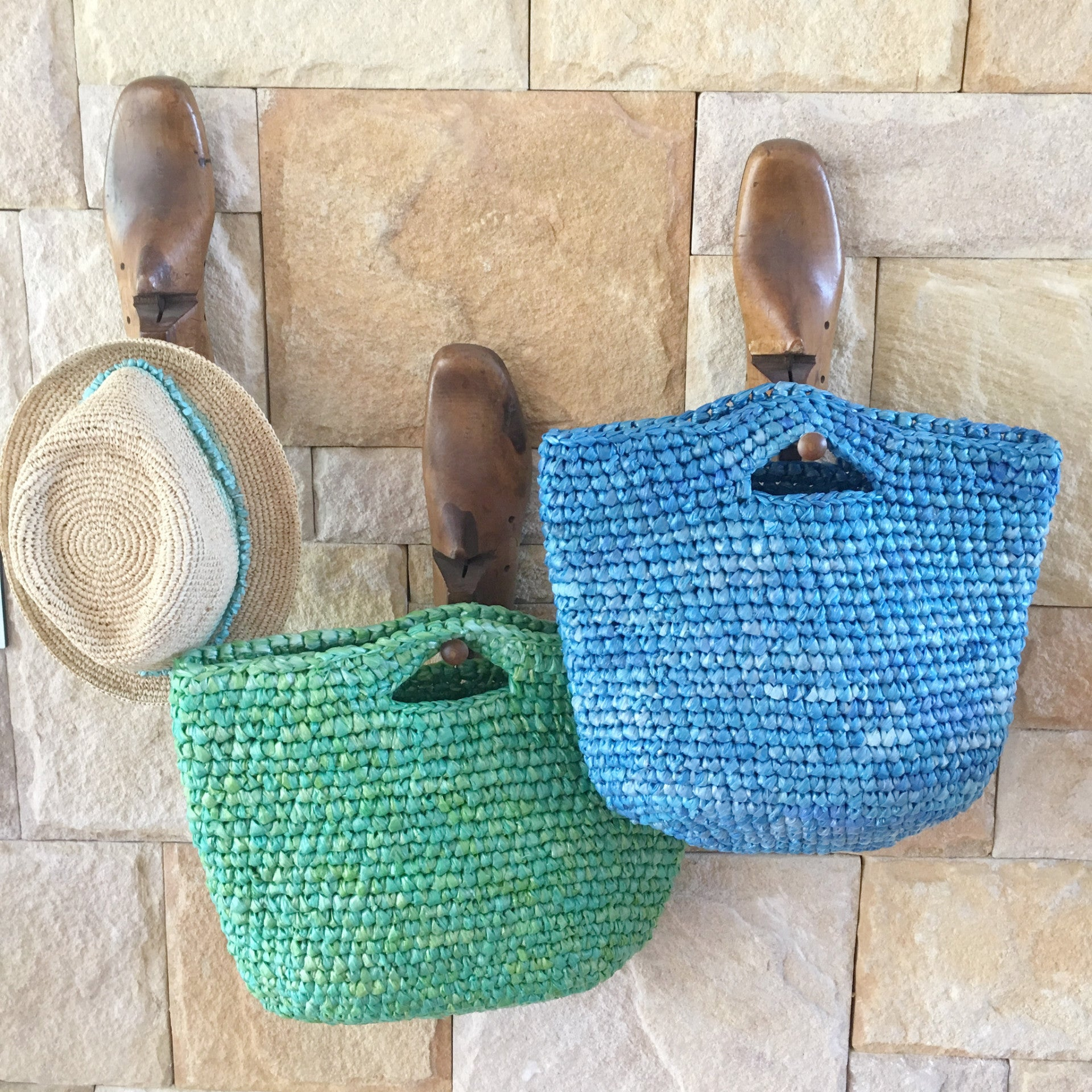 Carry Bag Made From Plastic Bags