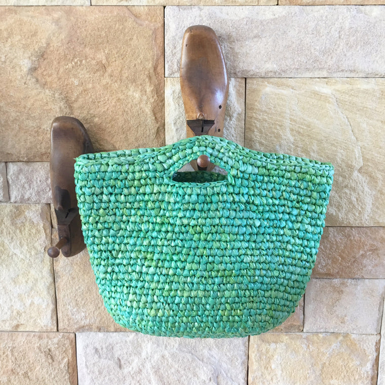 Carry Bag made from Plastic Bags | Green
