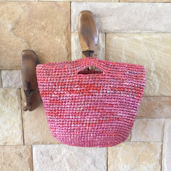 Carry Bag made from Plastic Bags | Red