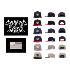 Batt 5 Maltese Logo - Flexfit 6089 (Flat Bill Snap Back)