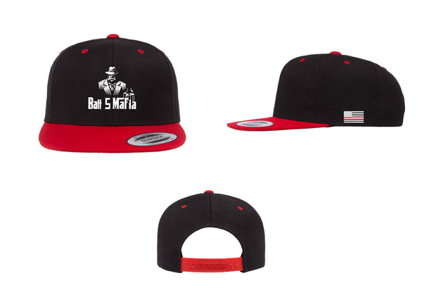 Batt 5 Standard Logo - Flexfit 6089 (Flat Bill Snap Back)