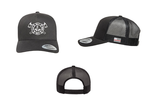 Batt 5 Maltese Logo - Flexfit 6506 (Trucker Snap Back)