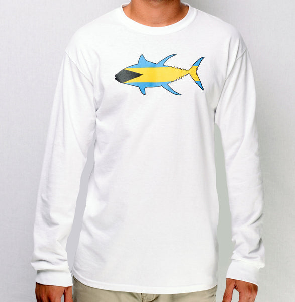 Bahamian Yellowfin L/S (White)