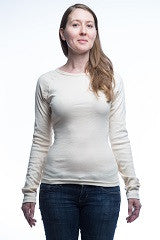 3307- Women's 1x1 Rib T-Shirt with Long Sleeves