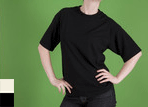 3005 - Rib T-Shirt with a Snug Fitting Cap Sleeve