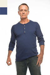 8008 - Men's Three Button Henley
