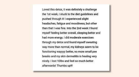 Liver Cleanse Feedback