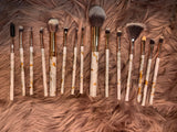 15-count Marble Makeup Brush Set