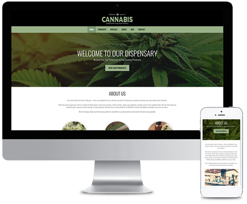 Website Design Cannabis Marijuana THC Dispensary Buy Weed Web Designer Canada
