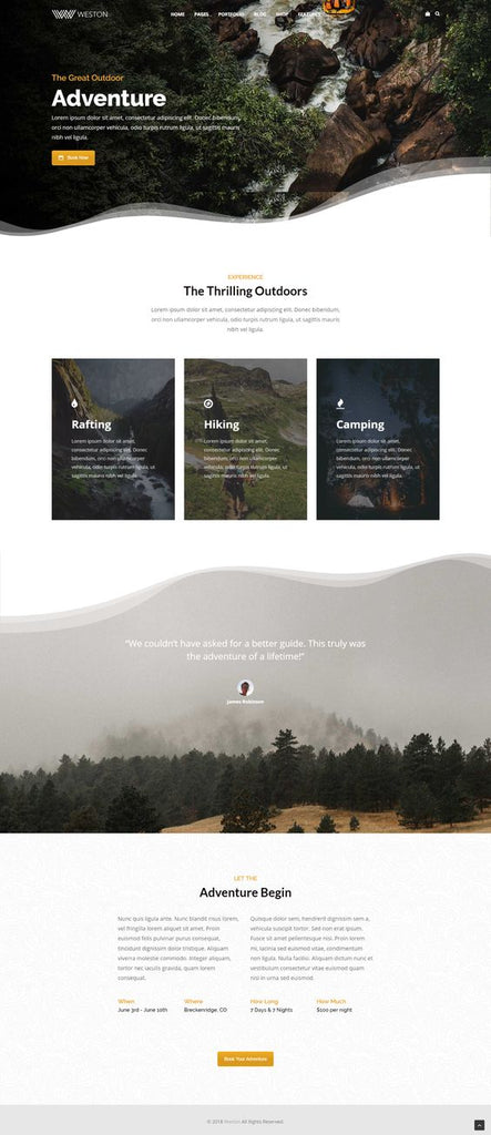 adventure-website-design