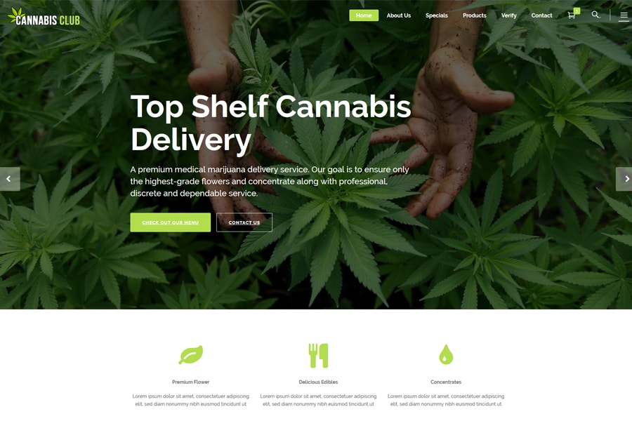 Website Design Marijuana