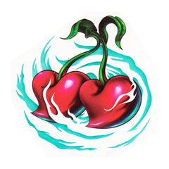 Temporary tattoo cherries