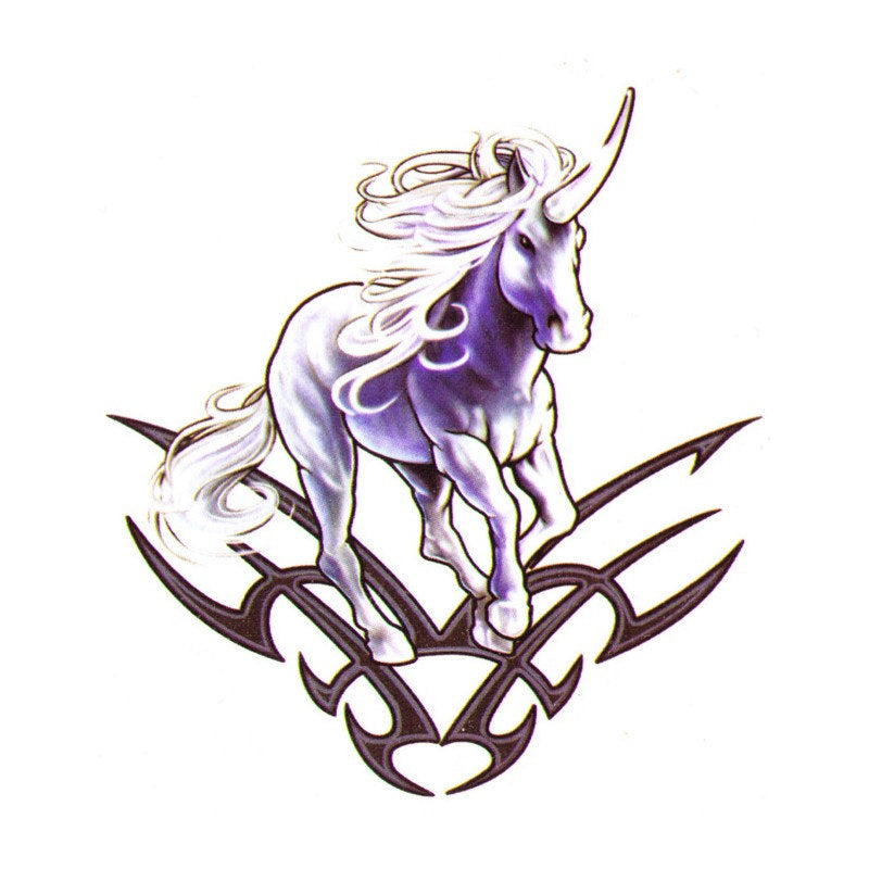 Unicorn fake tattoo