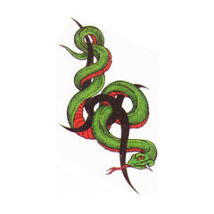 Tribal snake fake tattoo