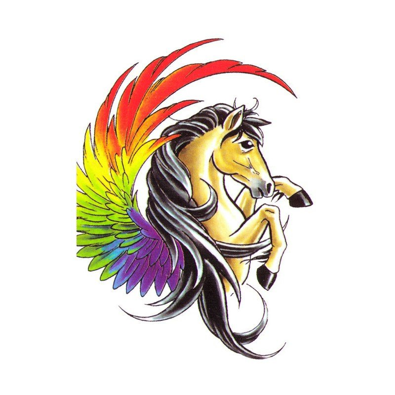 Rainbow Unicorn Fake Tattoos Custom Temporary tattoo Design