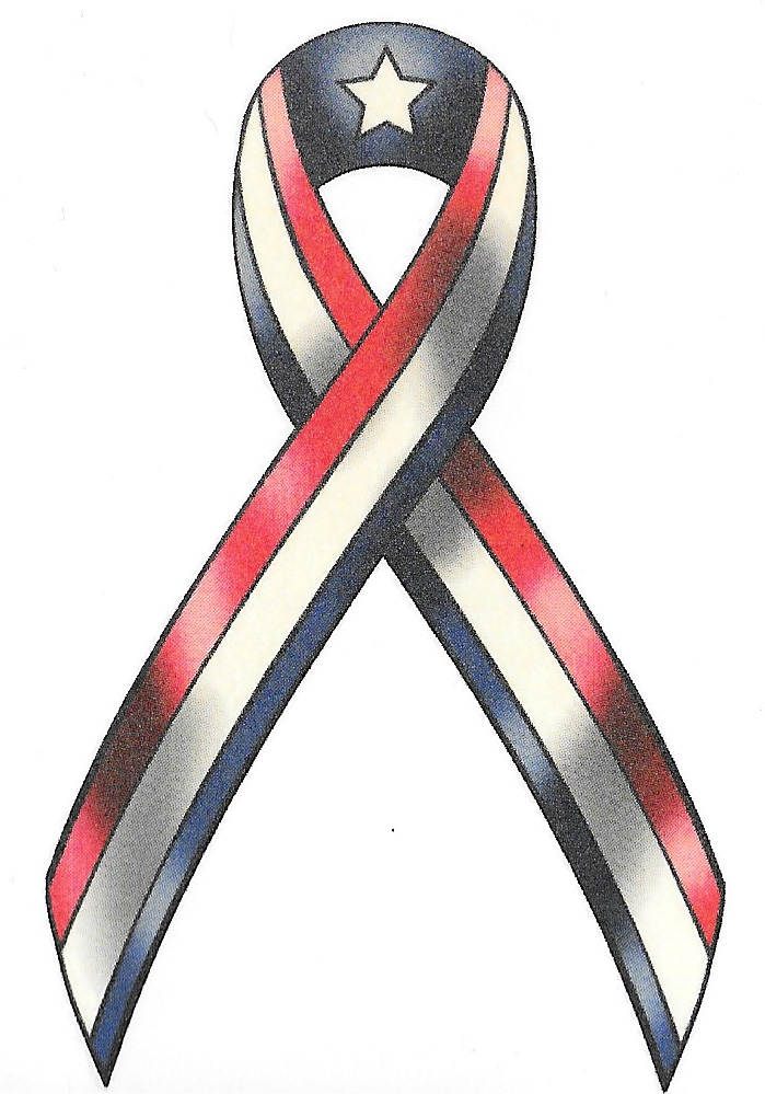 USA Ribbon Flag Temporary Tattoo