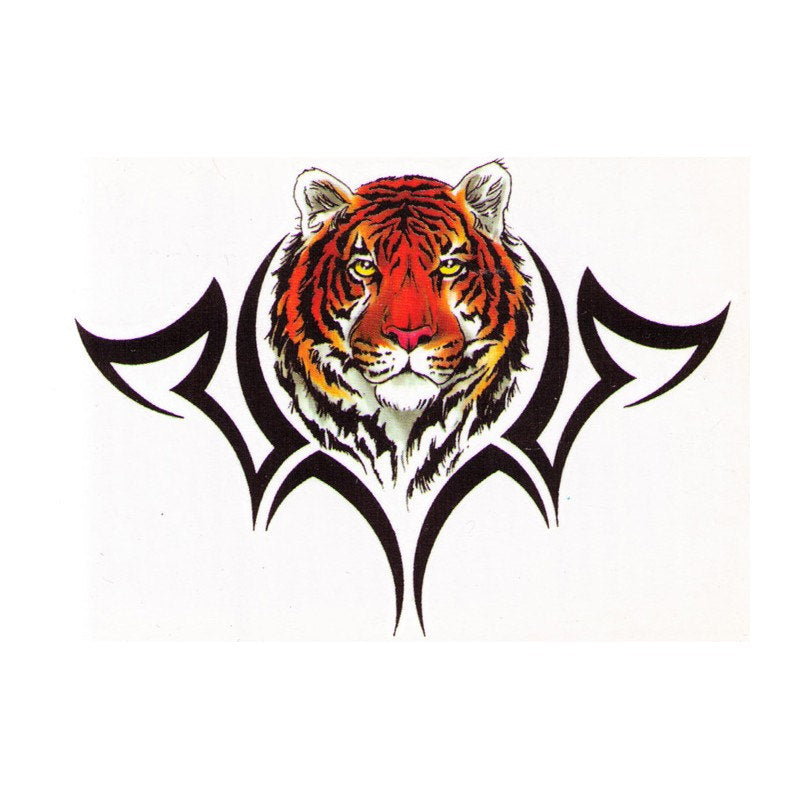 Tiger backpiece fake tattoo