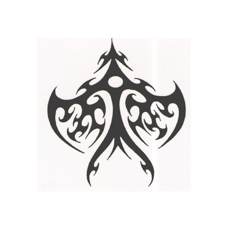 Tribal designer temporary tattoo design - 2x2 inch