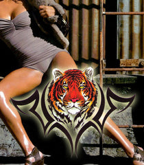 Tiger backpiece temporary tattoo