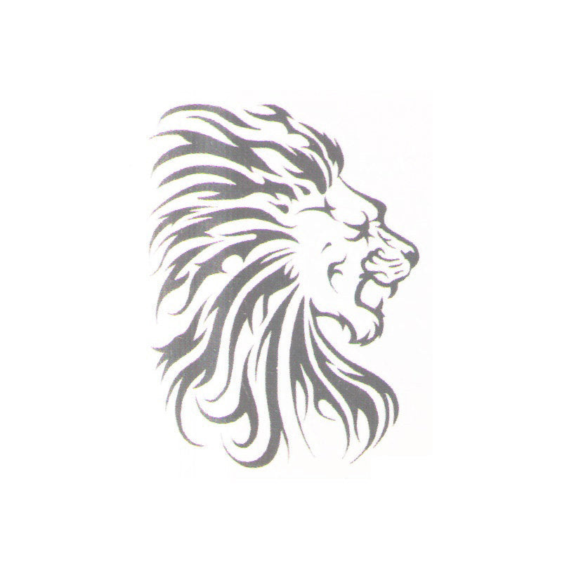 Lion Tribal Temporary Tattoo