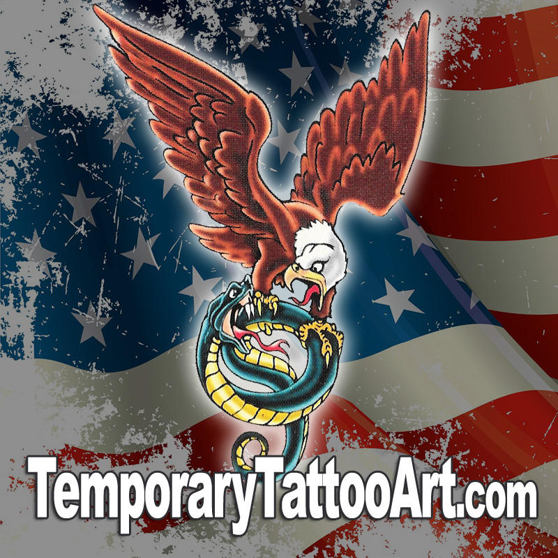 Eagle Snake Temporary Tattoo