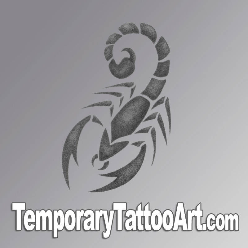 Tribal scorpion fake tattoo