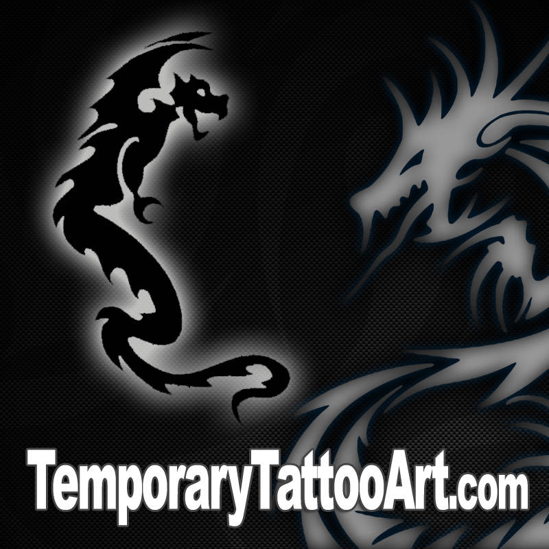 Dragon fake tattoo