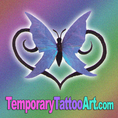 Butterfly fake tattoo design