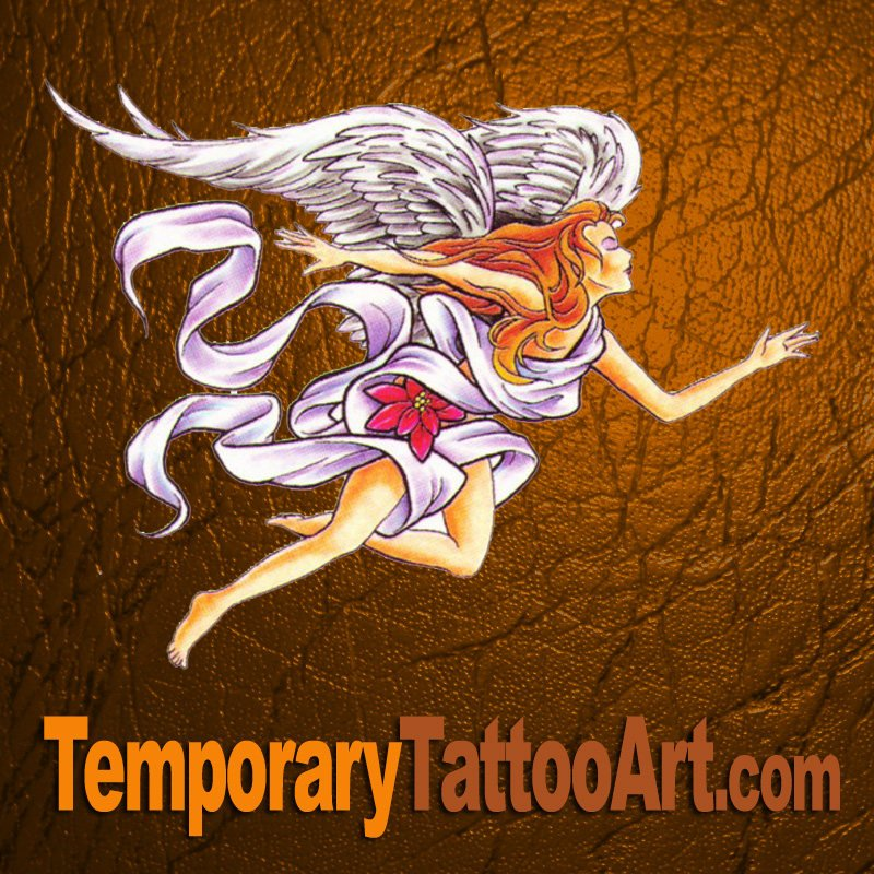 Angel temporary tattoo