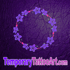Flower navel fake tattoo