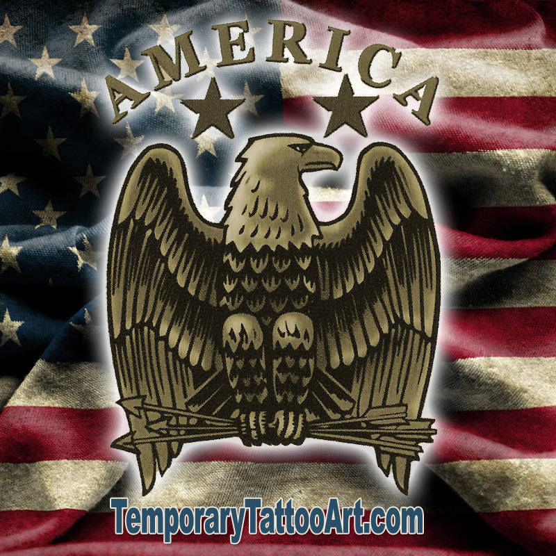 USA Temporary Tattoo