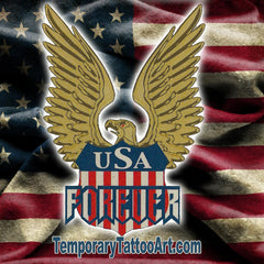 USA Eagle Fake Tattoo Design