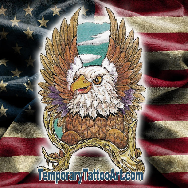 America Fake Tattoo