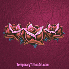 Flower Backpiece Temporary Tattoo