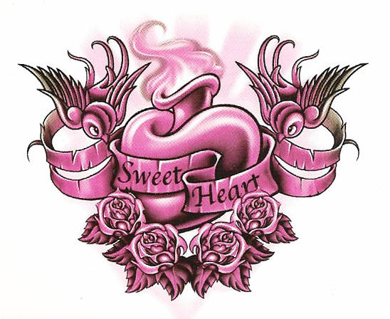 Temporary Tattoo Sweet Heart