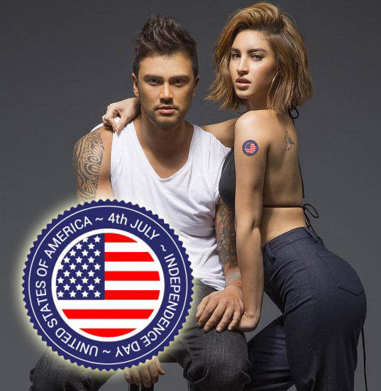 USA July 4th Temporary Tattoos