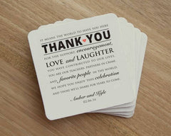 Wedding Coasters Personalized